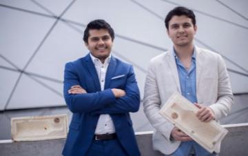 Alexis y Axel Gomez Ortigoza, fundadores de la empresa Polybion