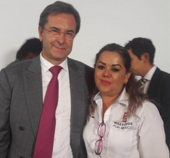 Blanca E. Rodríguez y Esteban Moctezumaç
