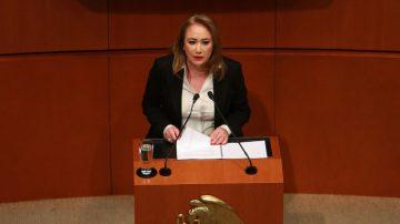 Comparece Yasmín Esquivel Mossa en el Senado