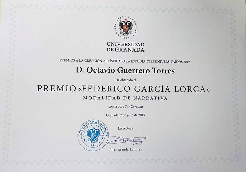 Octavio Guerrero - sur carolina - univerisdad de granada
