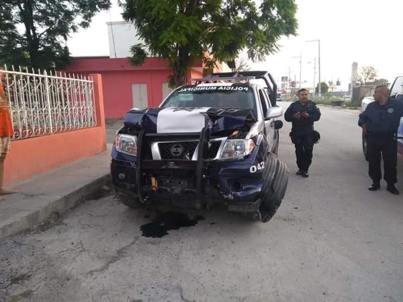 matehuala policias borrachos chocan patrulla