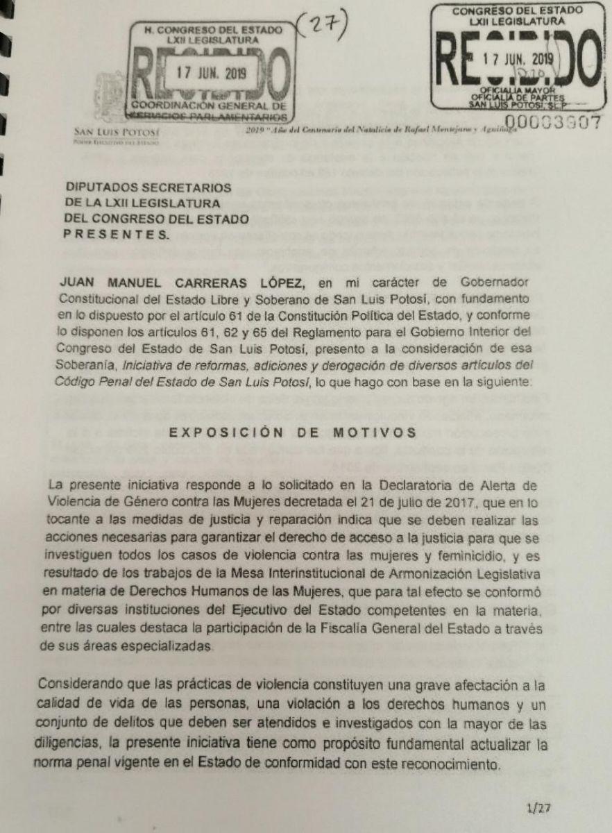 Iniciativa Ley Libre de Violencia 220819