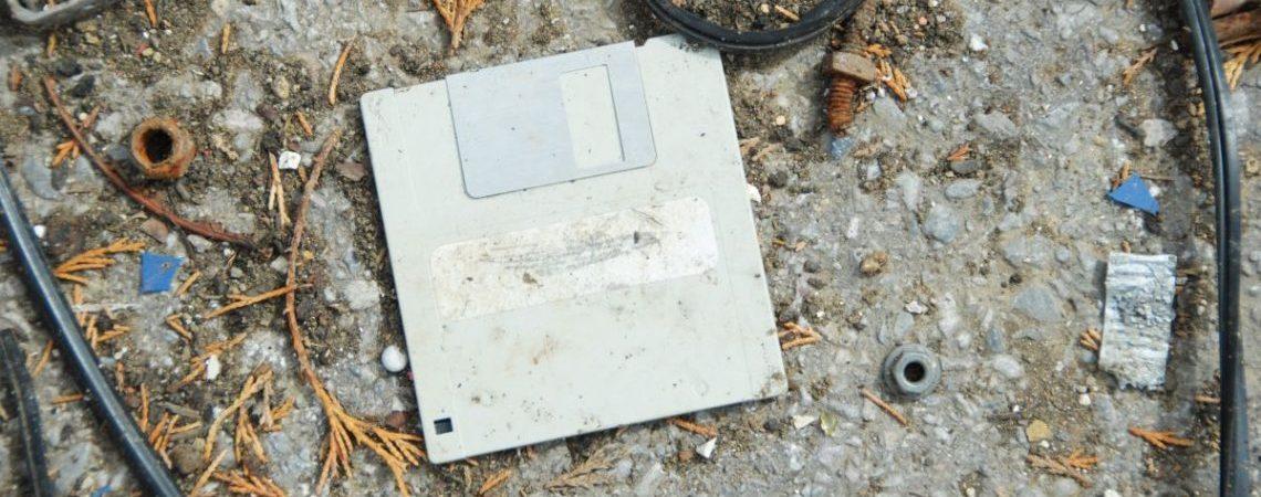Diskette antiguo medio de almacenamiento
