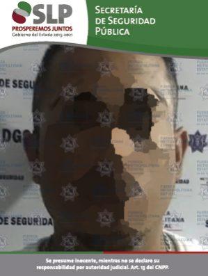 JUAN S detenido en matehuala por violencia familiar