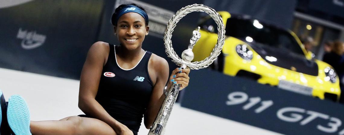 Con sólo 15 años de edad, la tenista Coco Gauff gana su primer título