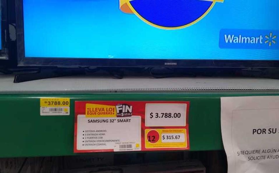 tienda walmart se equivoco precio television smart tv profeco buen fin