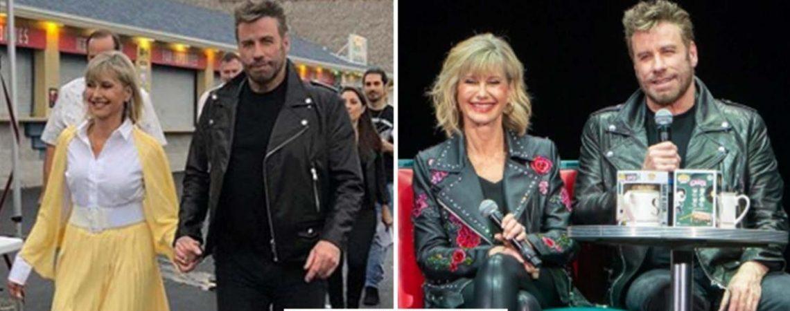 John Travolta y Olivia Newton-John sacan sus vestuarios de «Vaselina», y reviven su época dorada