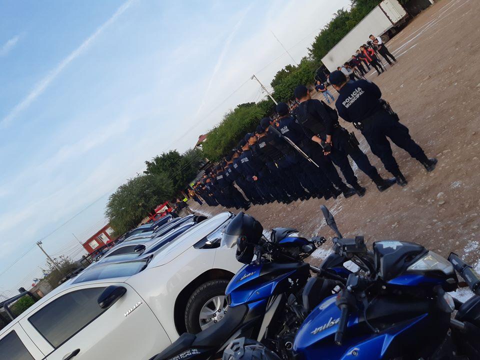 Policia Municipal Ciudad Fernández - policías hieren