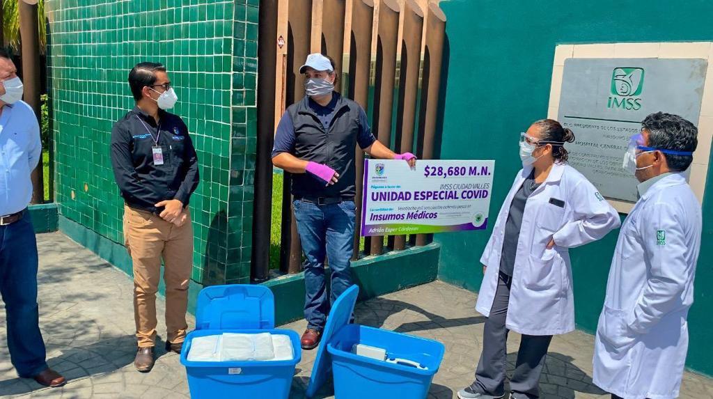 donacion unidad covid imss valles