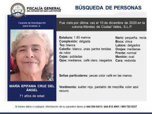 Dos abuelitos extraviados en Valles - Epifania Cruz del Angel