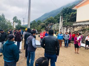 benefician a familias de El Aguacate