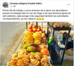 roban a comerciantes indígenas de Valles