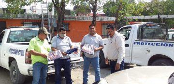 entrega uniformes protección civil Valles