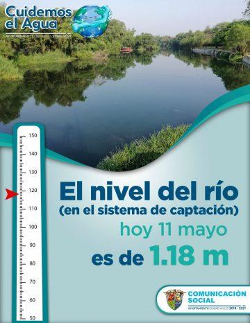 Río Valles aumenta si nivel gracias a las lluvias