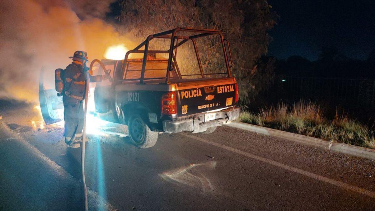 patrulla se incendia